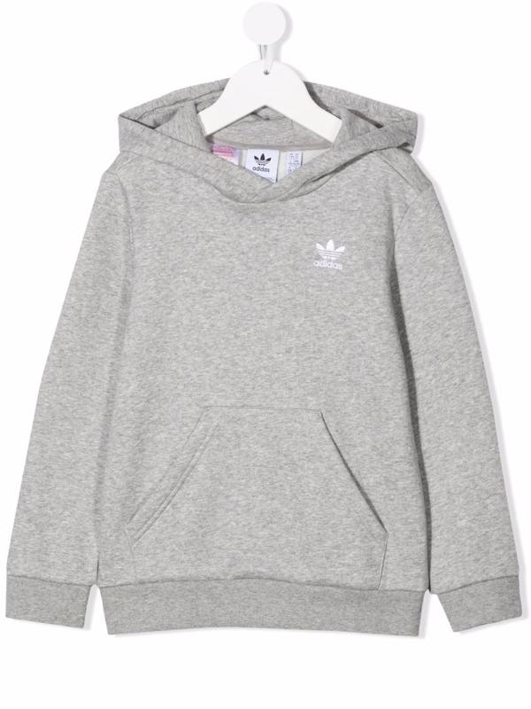 Adidas Originals Adidas Kids' Originals Trefoil Pullover Hoodie In Grey