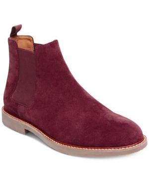 Steve Madden Men's Hyghline Suede Chelsea Boots Men's Shoes In Burgundy