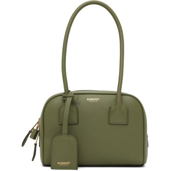 Burberry Green Mini Half Cube Bag In Mangrove Green