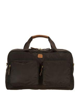 Bric's Xtravel Tuscan Leather Blend Boarding Duffle Bag In Brown