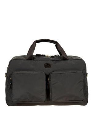 Bric's Xtravel Tuscan Leather Blend Boarding Duffle Bag In Steel