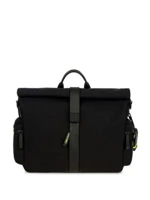 Bric's Moleskine Rolltop Messenger Bag In Black