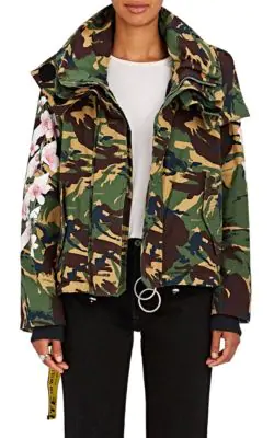 bac6cdab2067a Off-White M65 Floral Camouflage Field Coat - Camo   ModeSens