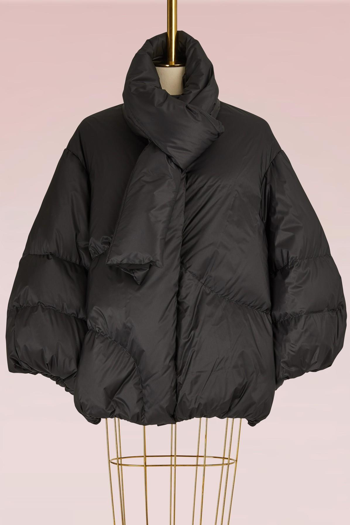 Maison Margiela Oversize Stuffed Jacket In Black