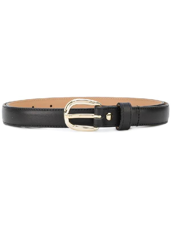 A.p.c. Leather Claudia Belt In Noir