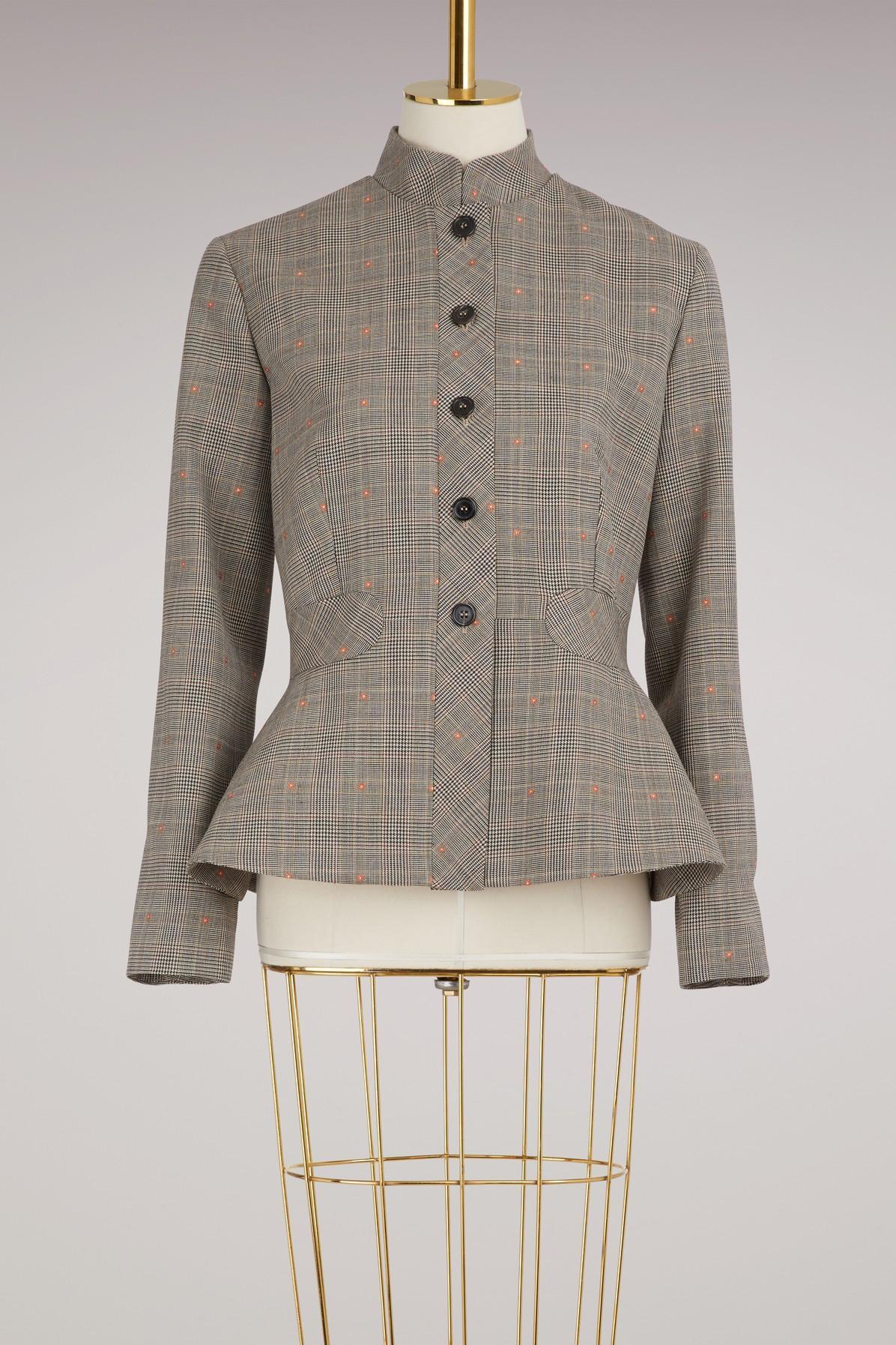 Paul & Joe Tweed Jacket In Marron