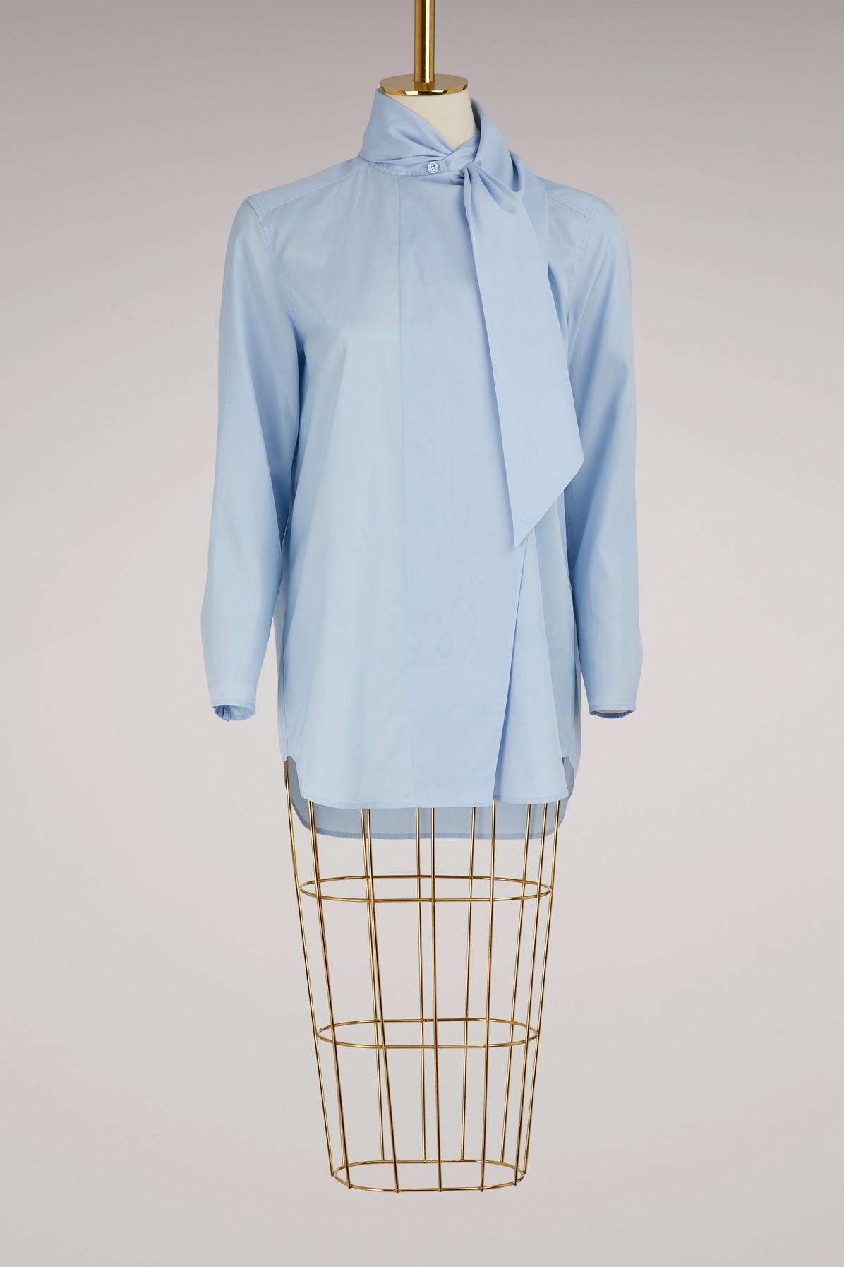 Acne Studios Cotton Dry Pop Bianca Shirt In Sky Blue