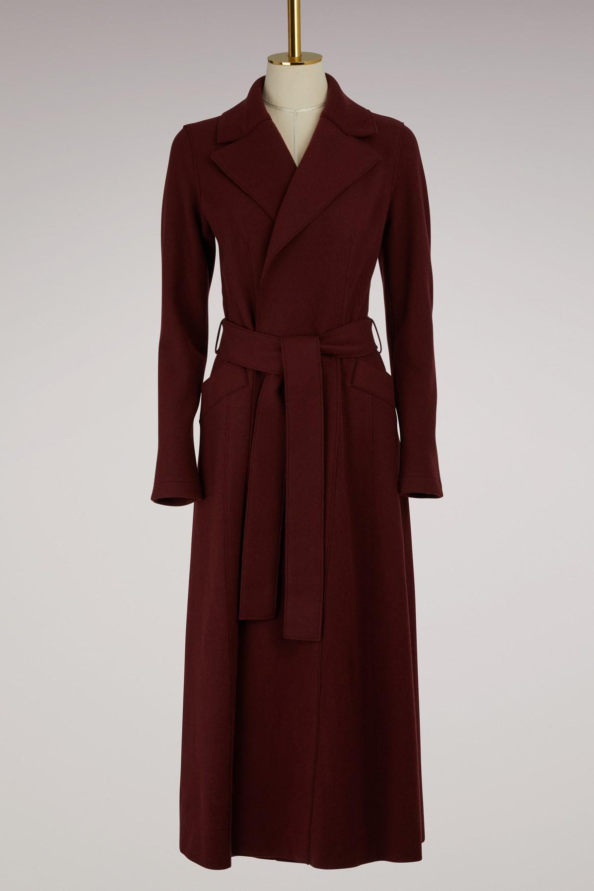 Harris Wharf London Belted Long Duster Coat Cashemere In Cinabre