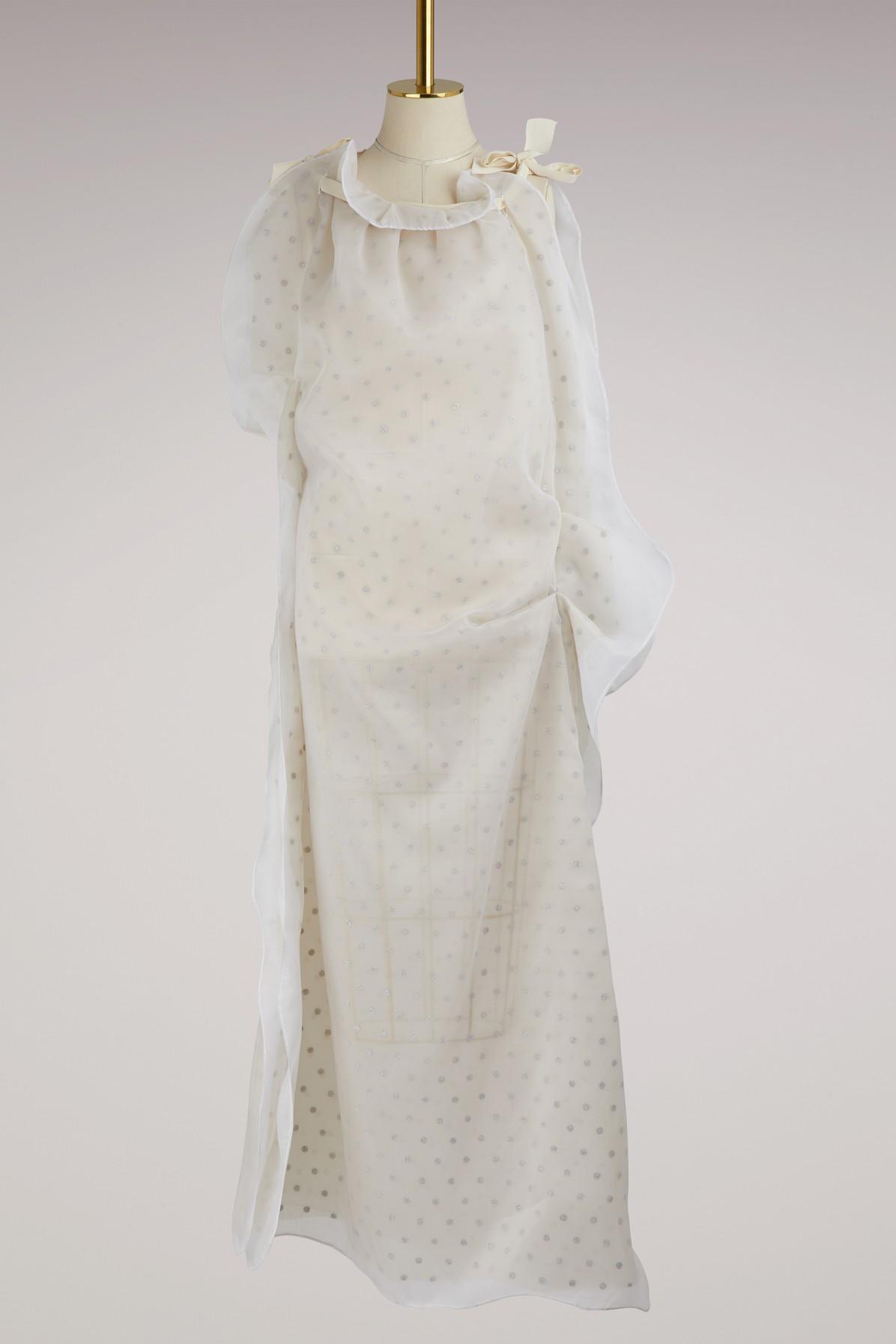 Maison Margiela Silk Maxi Dress In White
