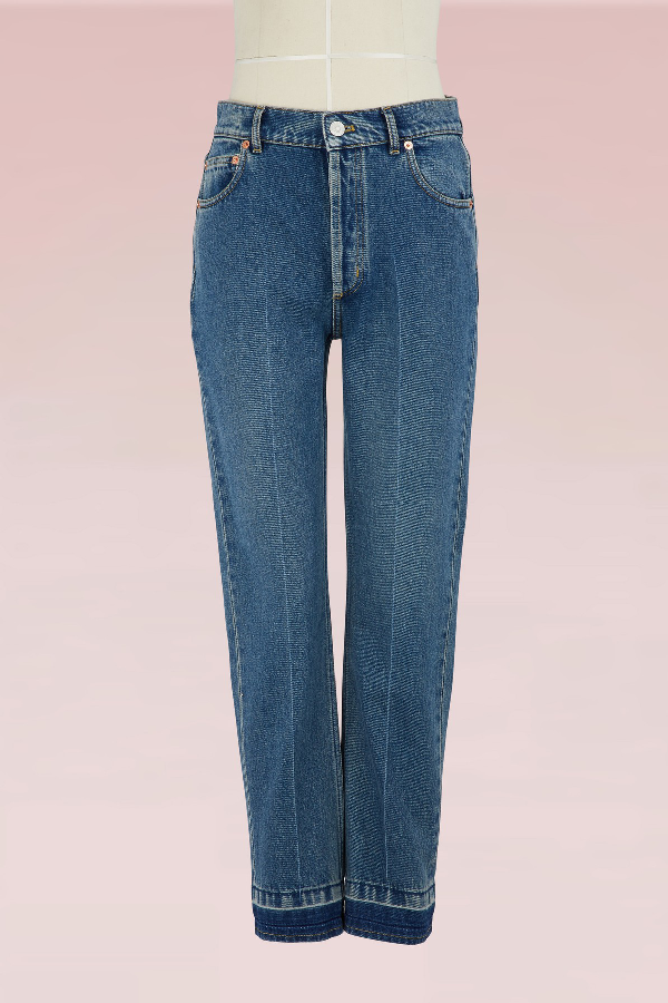 Balenciaga Genuine Straight Jeans In Stone Wash
