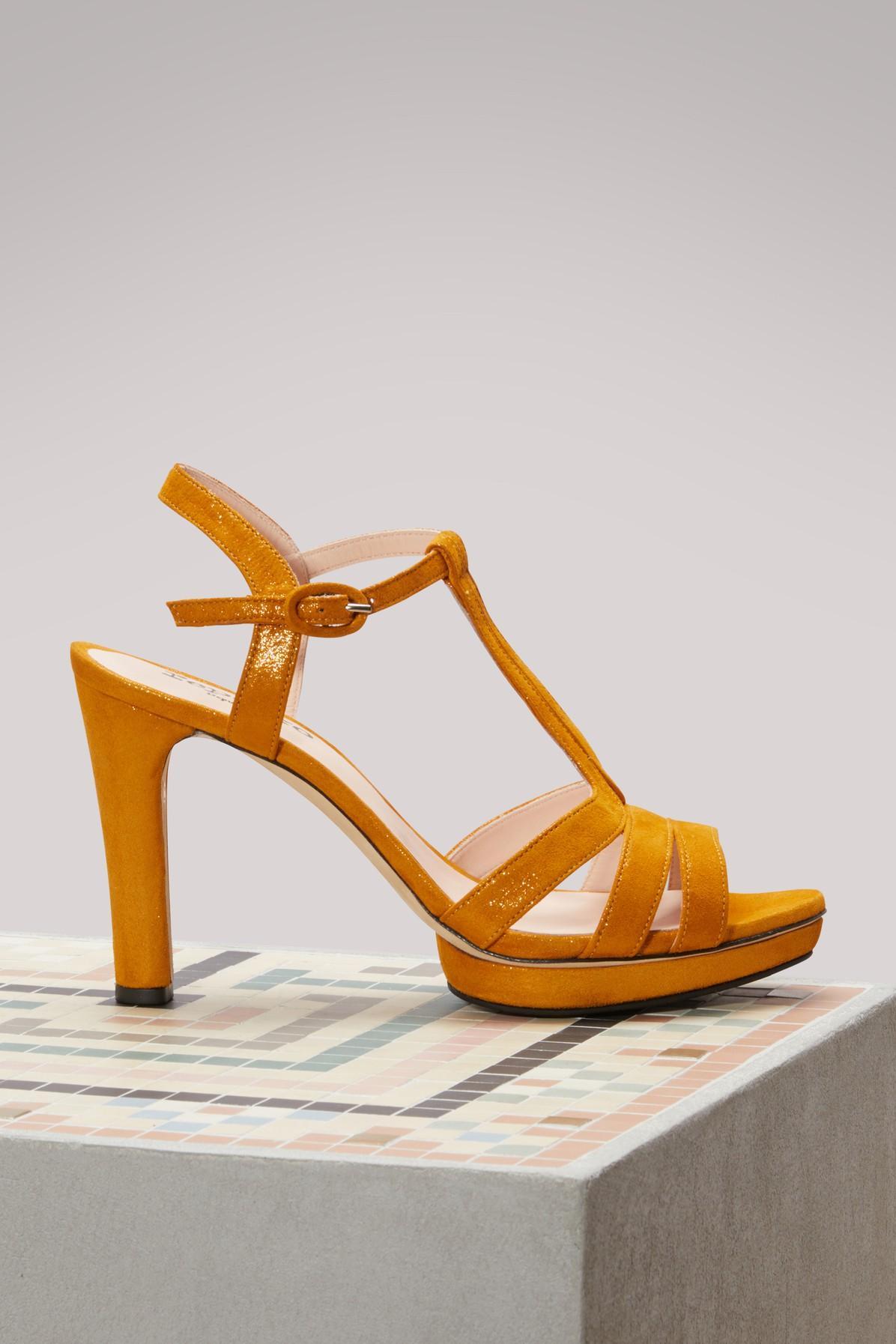 Repetto Bikini Sandals With Heels In Pigment