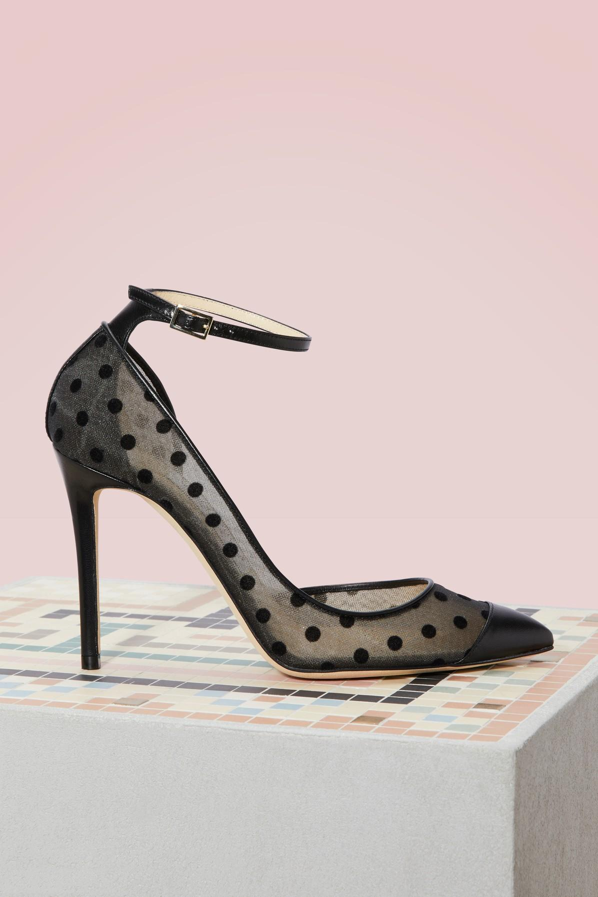 Jimmy Choo Lucy 100 Leather Pumps In Black