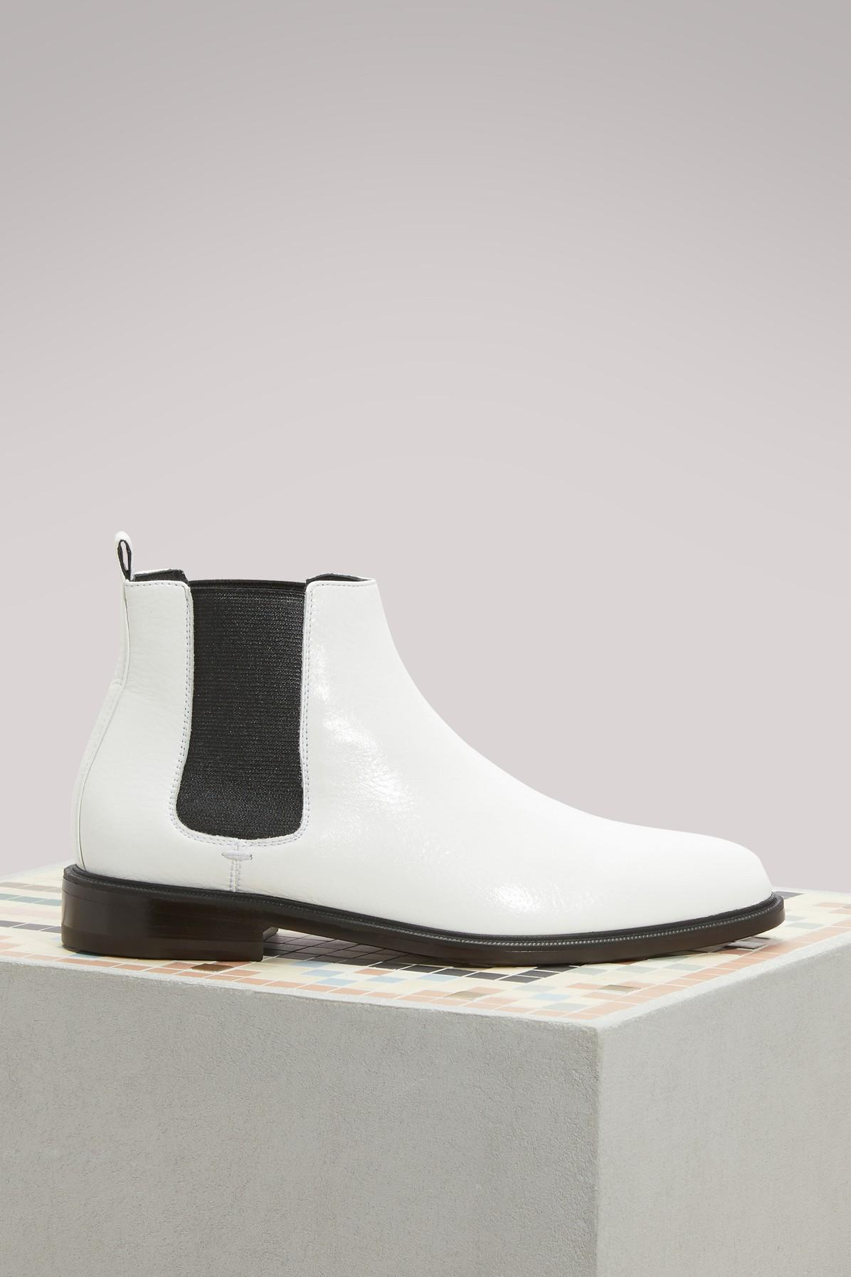 Lanvin Chelsea Ankle Boots In Blanc