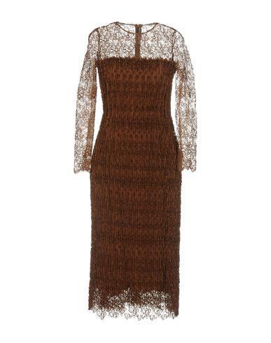 Ermanno Scervino Midi Dress In Brown