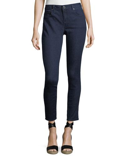 Michael Michael Kors High-rise Skinny Ankle Jeans In Blue