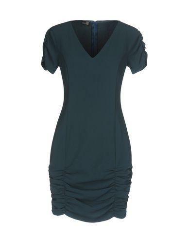 Love Moschino Short Dress In Deep Jade