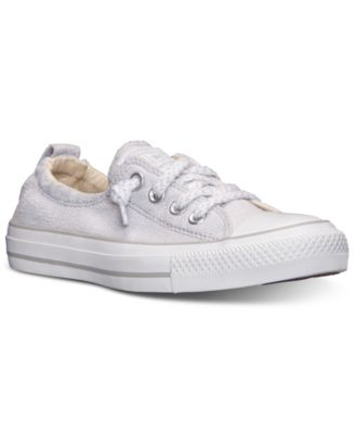Converse Women's Chuck Taylor Shoreline Slub Linen Casual Sneakers From Finish Line In Oyster Gray