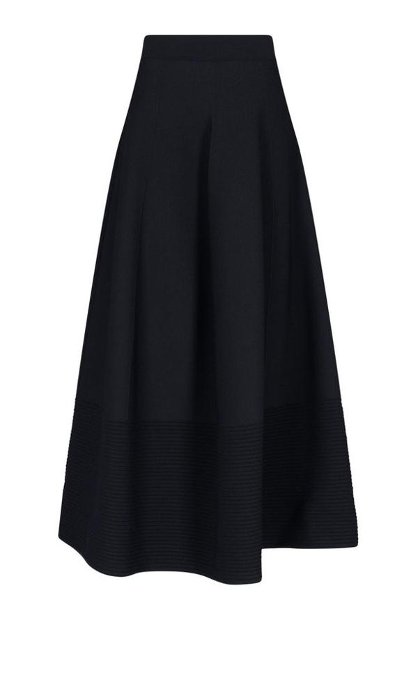 Alexander Mcqueen Women's 667829q1avn1000 Black Viscose Skirt