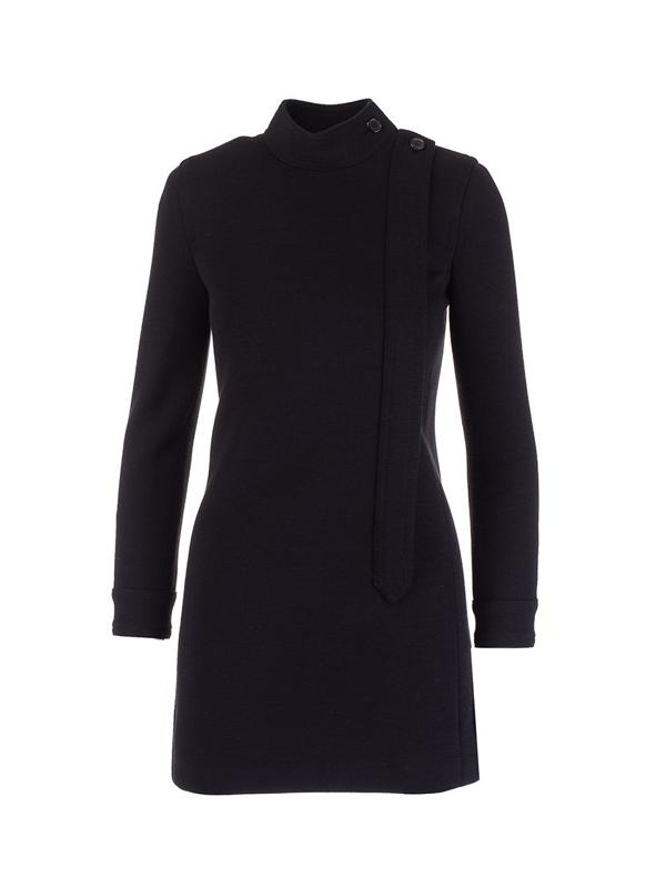 Saint Laurent Women's 657660y288v1000 Black Wool Dress
