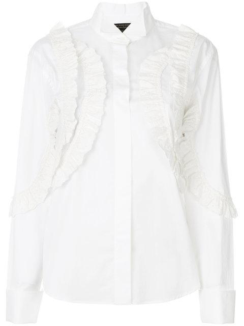 Burberry Ruffle Shirt - White