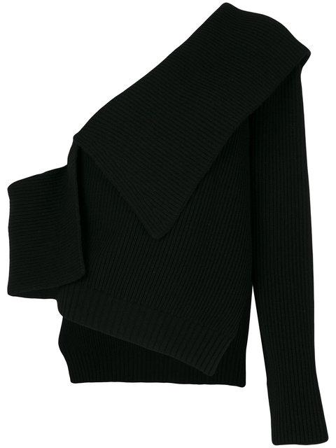 Burberry One Shoulder Knit Sweater - Black
