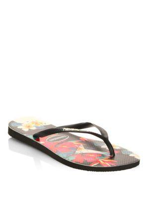 fb97e0b2f136 Havaianas Women s Slim Tropical Flip-Flops Women s Shoes In Black ...