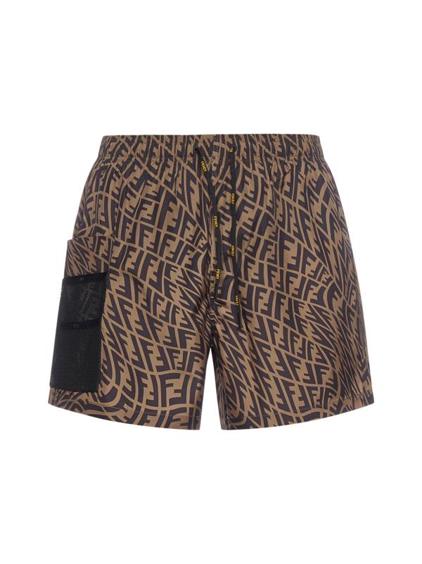 Fendi Swimwear In Brown