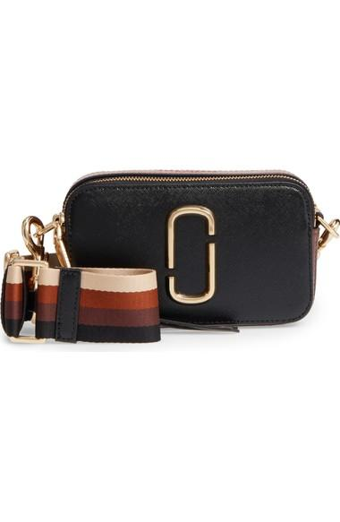ba4354817c Marc Jacobs Snapshot Crossbody Bag - Black In Black   Chocolate ...