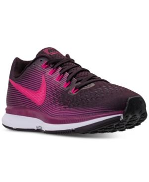 b2d991c3c85c Nike Women s Air Zoom Pegasus 34 Running Sneakers From Finish Line In Port  Wine Deadly