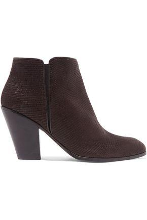 Giuseppe Zanotti Woman Lizard-Effect Leather Ankle Boots Brown