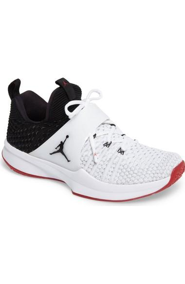 brand new 49fec 0eefc Nike Men s Air Jordan Trainer 2 Flyknit Training Shoes, White Black Red