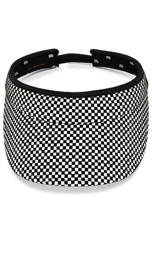 Lele Sadoughi Checkered Visor. In 黑色、白色