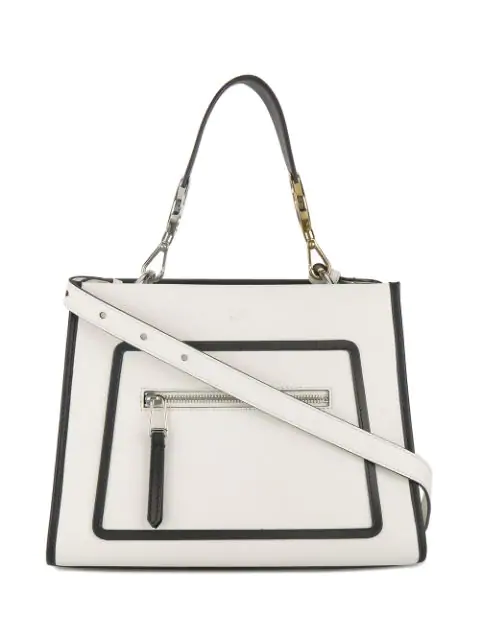 7fd00960 Runaway Small Leather Tote Bag - Gray in White