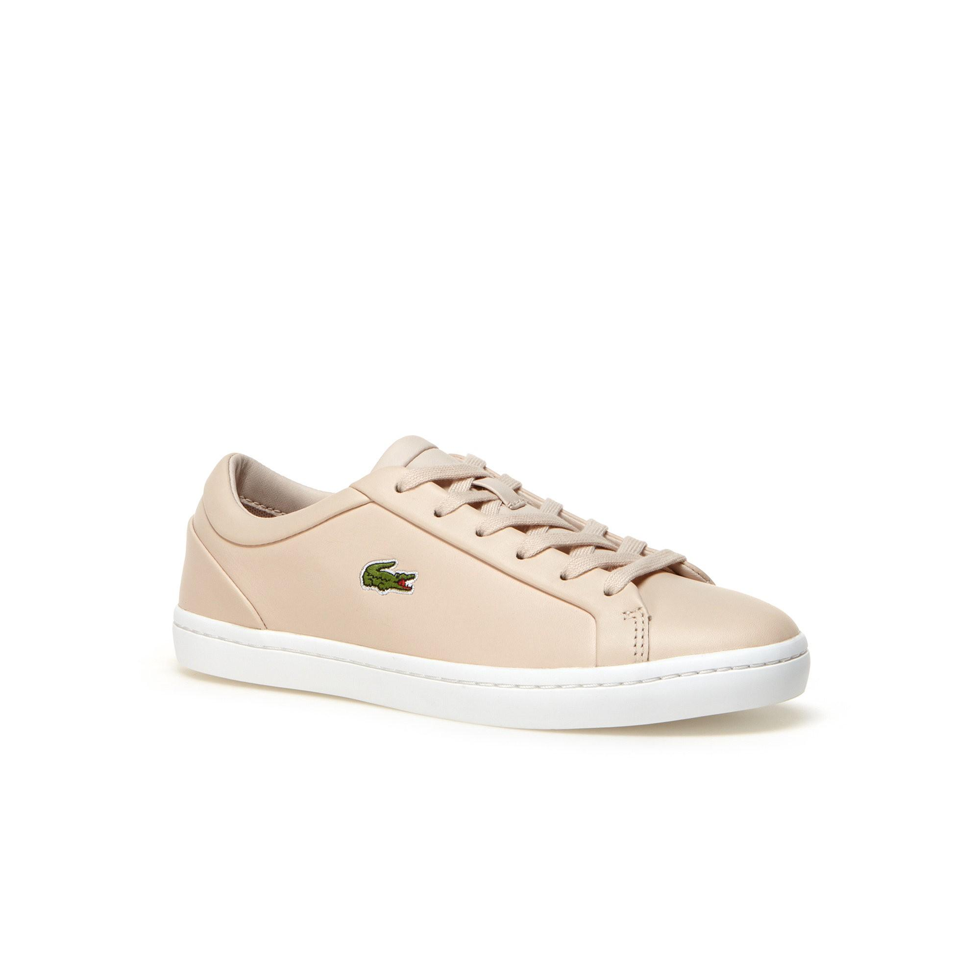 1d40ee6587e Lacoste Women s Straightset Lace Leather Sneakers In Light Pink ...