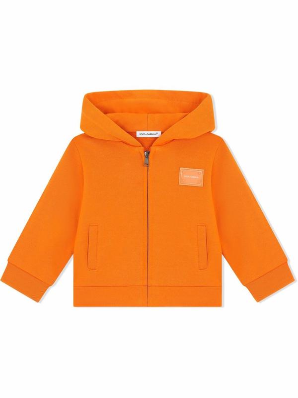 Dolce & Gabbana Babies' Kids Zip-up Hoodie (3-30 Months) In Orange