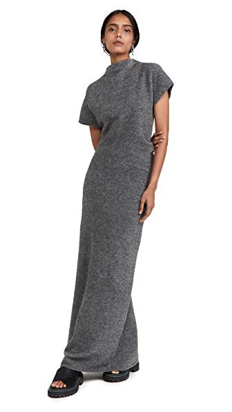 Proenza Schouler Merino Wool-blend Maxi Dress In Grey Melange