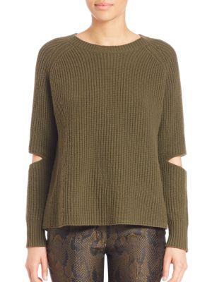 ZoË Jordan Turing Cut-out Sweater, Green, Xs In Moss