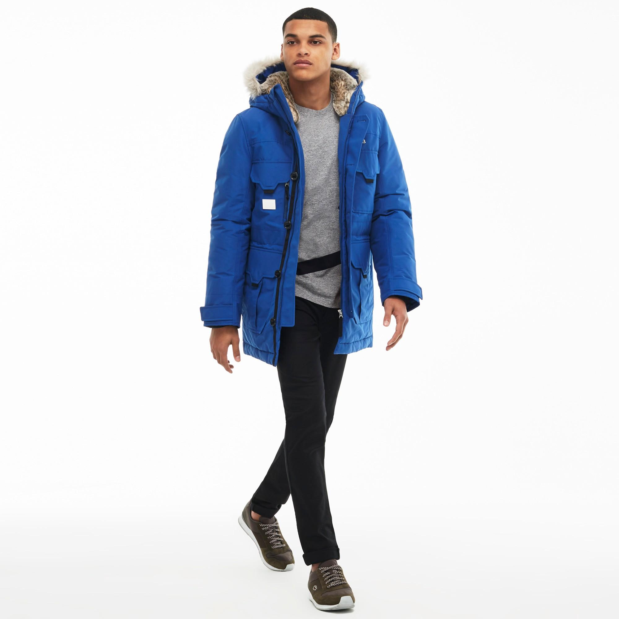 0817d04be0 Lacoste Unisex Live Hooded Quilted Parka - Steel Bluesteel Blue ...
