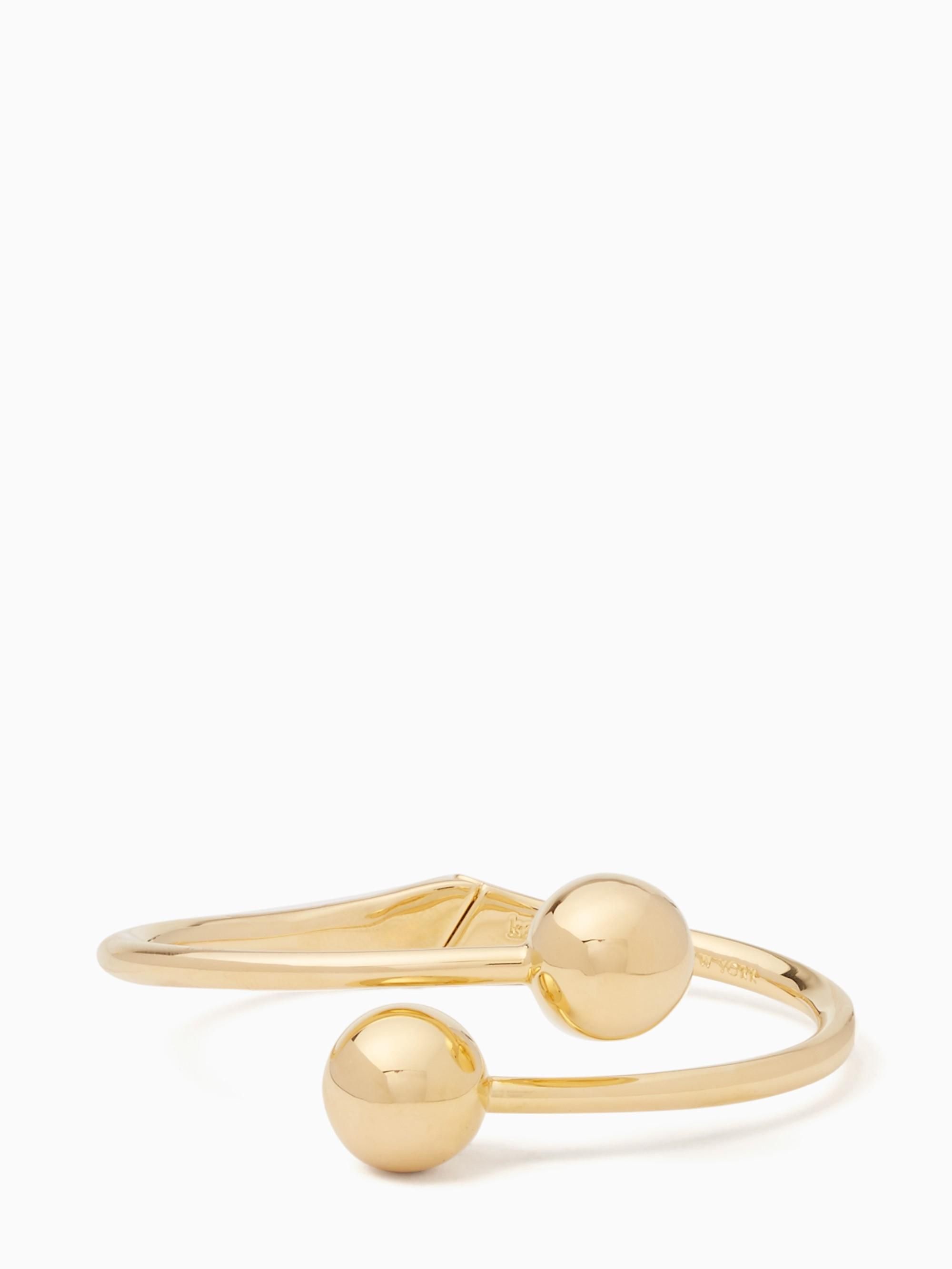 Kate Spade Golden Girl Bauble Open Hinged Cuff