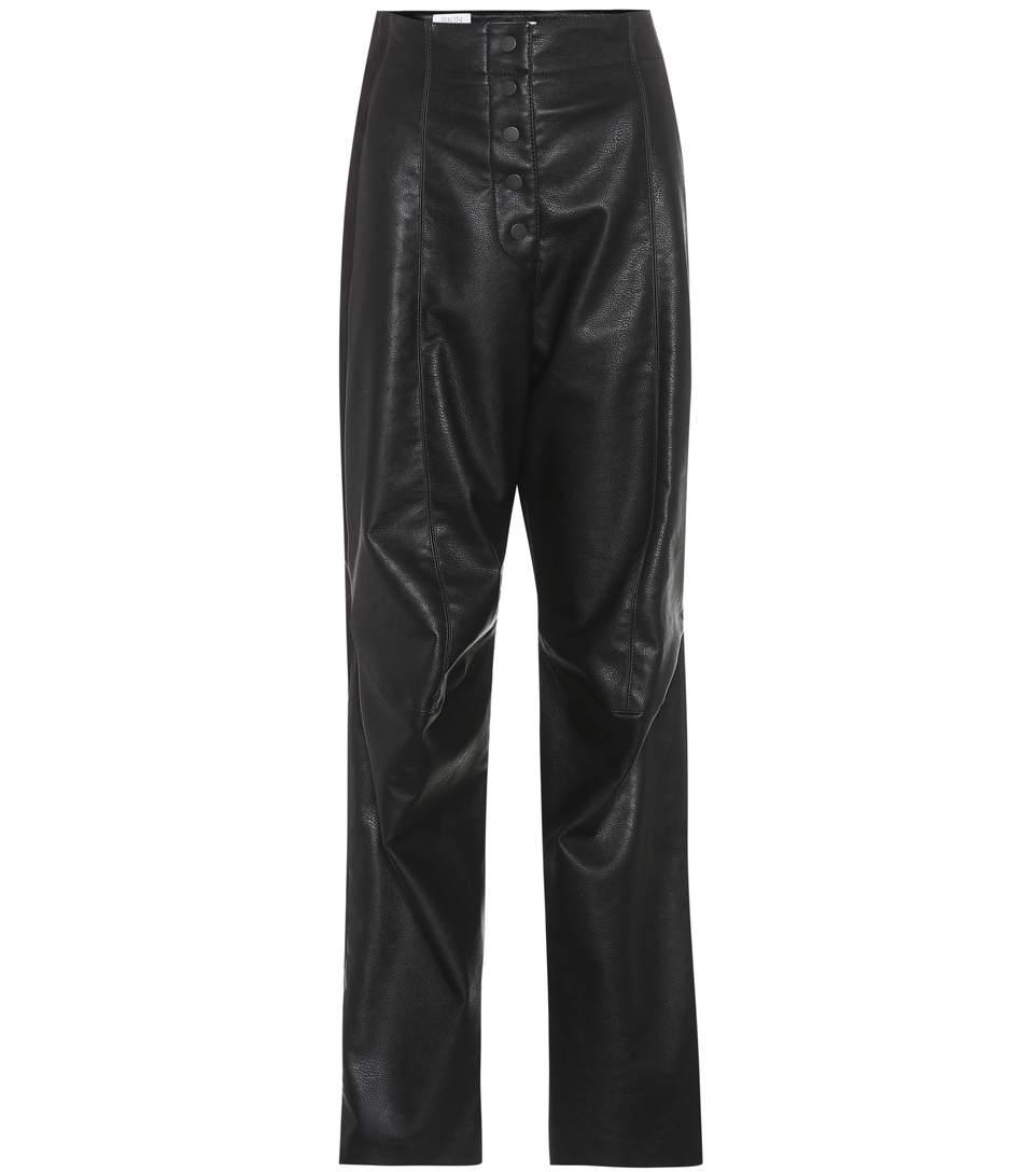 Stella Mccartney Faux Leather Bomber Jacket Black   ModeSens