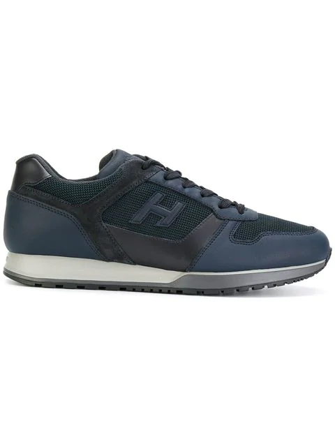 Hogan Sneakers H321 In Leather And Fabric In Black