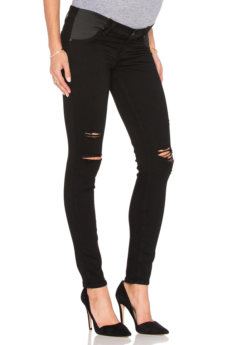 a21b633332d4a Paige Denim Verdugo Skinny Maternity Jeans In Black Shadow Destructed