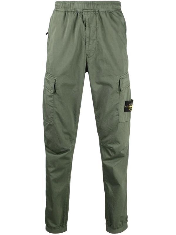 Stone Island Cargo Pocket Track Pants In Grün