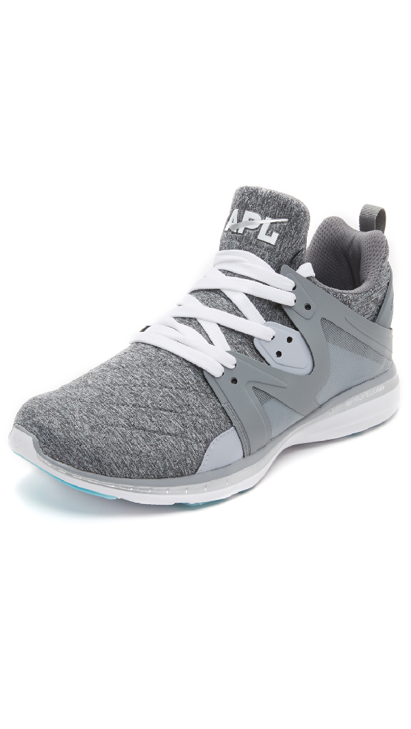 c130ebe89e1 Apl Athletic Propulsion Labs Ascend Mesh Trainer Sneakers In Cosmic Grey Metallic  Silver