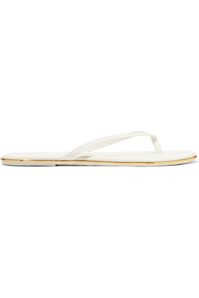 3abb0ae8c Tkees Lily Patent-Leather Flip Flops In White