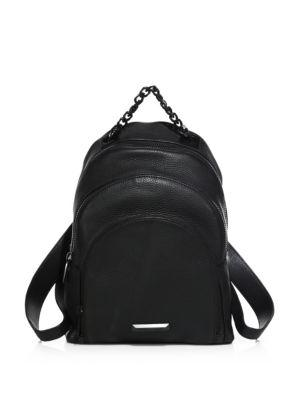 Kendall + Kylie Sloane Leather Backpack In Black