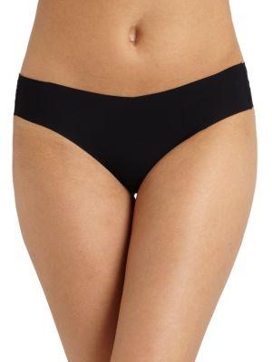 Commando Seamless Lace-Print Thong, Nude In Sparks