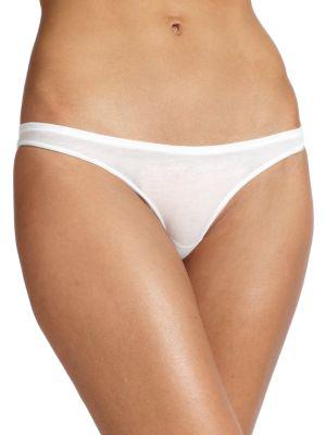 Skin Organic Pima Cotton Bikini Briefs In White