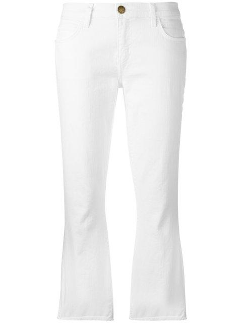 Current Elliott Current/elliott Flared Cropped Jeans - White