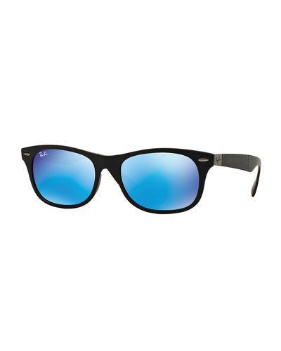 a0c5612da08c22 Ray Ban Men s Wayfarer Plastic Sunglasses With Mirror Lenses
